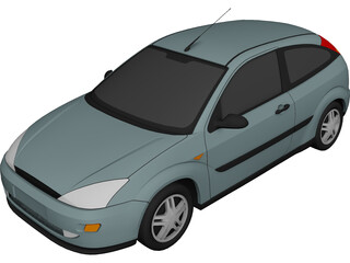 Ford Focus Hatchback 3-Door (1999) 3D Model