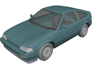 Honda CRX (1987) 3D Model 3D Preview