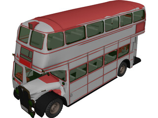 Bus London 3D Model 3D Preview