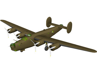 Consolidated B-24J Liberator 3D Model 3D Preview
