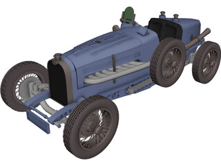 Bugatti Type 59 (1933) 3D Model