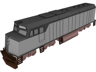 Amtrak Engine 3D Model