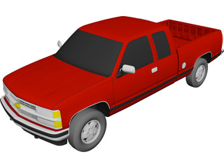 Chevrolet S10 Pickup Extended Cab (1994) 3D Model