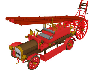 Fire Engine Dennis 3D Model