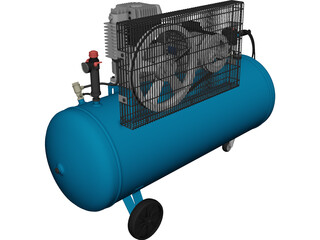 Electric Air Compressor Unit 3D Model