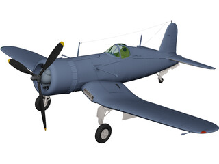 F4U-1D Corsair 3D Model