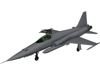 Northrop F-5E Tiger 3D Model