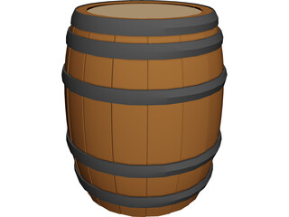 Whiskey Barrel 3D Model