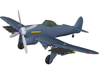 Hawker Typhoon 3D Model