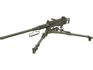 Heavy Machinegun Browning Cal .50 3D Model