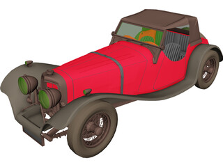 Jaguar S100 Targa Florio (1937) 3D Model
