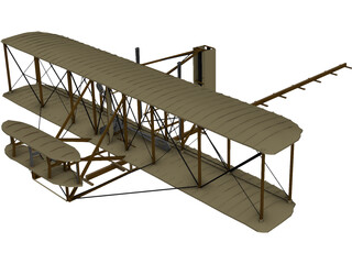 Wright Flyer Kitty Hawk 3D Model