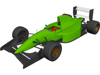 F1 Lotus-Ford 107 3D Model
