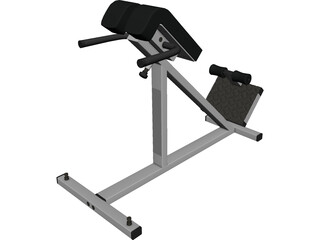 Lumbar Hyperextensions Bench 3D Model