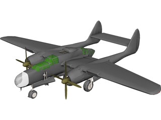 Northrop P-61A Black Widow 3D Model