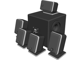 Surround Speaker Set 5.1 3D Model