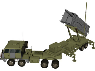 Patriot Missile 3D Model
