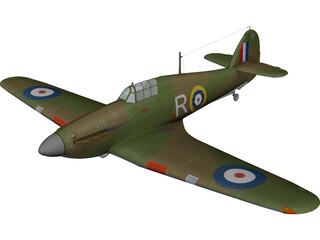 Hawker Hurricane I 3D Model