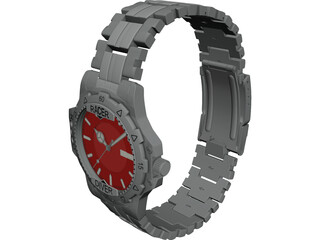 Racer Diver Watch 3D Model