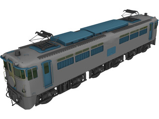 Sakura Blue Train 3D Model
