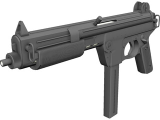 Walther MPL Submachinegun (9 mm) 3D Model