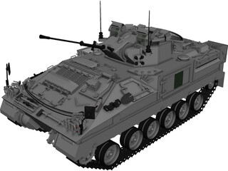 Warrior MCV 3D Model