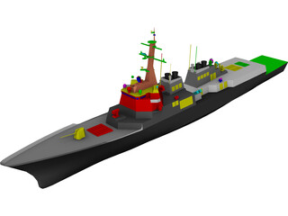 ROK Destroyer KDX-III 3D Model 3D Preview