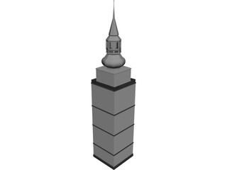 Nizna City Tower of Church  3D Model