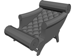 Adolf Loos Chaise Lounge 3D Model