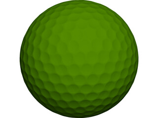 Golf Ball 3D Model 3D Preview
