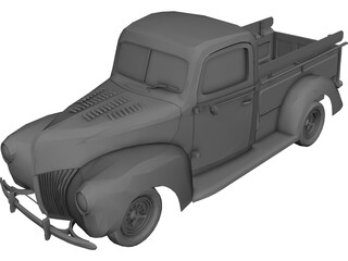 Ford Pickup Street Road (1940) 3D Model