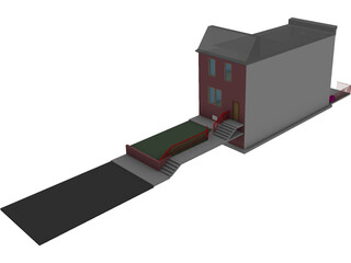 Philadelphia Row Home 3D Model