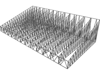 Structural Truss Roof 3D Model