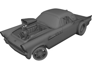 Ford Thunderbird Dragster 3D Model