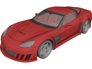 Chevrolet Corvette C6 [Tuned] 3D Model