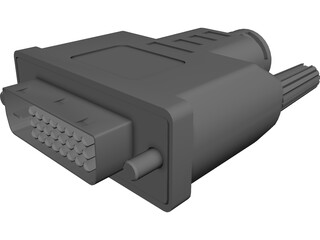 DVI-I Connector 3D Model