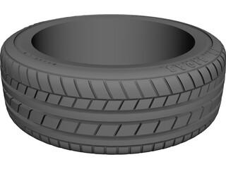 Tire Univesal 15 inch 3D Model 3D Preview