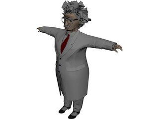 Einstein Scienctist 3D Model