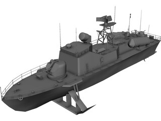 Missile Boat 206MR 3D Model