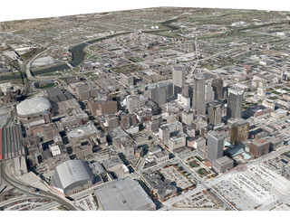 Indianapolis City 3D Model