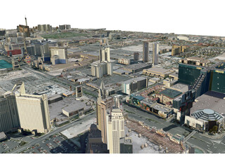 Las Vegas City (USA) (2013) 3D Model