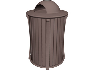 Trash Receptacle 3D Model