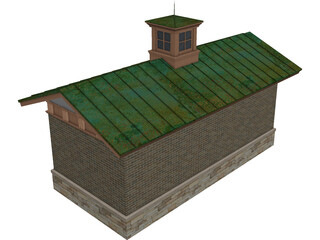 Bath House Structure 3D Model