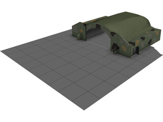 HAS - Hardened Aircraft Shelter 3D Model