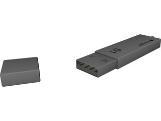 LG USB Drive 3D Model 3D Preview