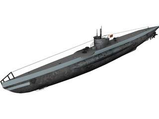 DKM U-boat type VII 3D Model