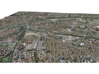 Toulouse City (France) [Part 1/4] 3D Model