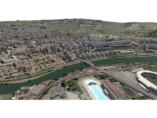 Toulouse City (France) [Part 4/4] 3D Model