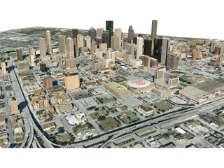 Houston City 3D Model