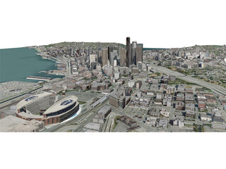 Seattle City (USA) (2013) 3D Model